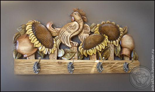 Подвески ручной работы. Ярмарка Мастеров - ручная работа. Купить Вешалка. Handmade. Коричневый, резьба по дереву, лак