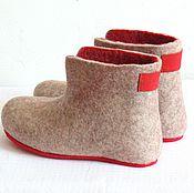 Обувь ручной работы handmade. Livemaster - original item Chuni made of natural wool, size 39 in stock.. Handmade.