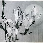 Картины и панно ручной работы. Ярмарка Мастеров - ручная работа Лунная магнолия. Handmade.