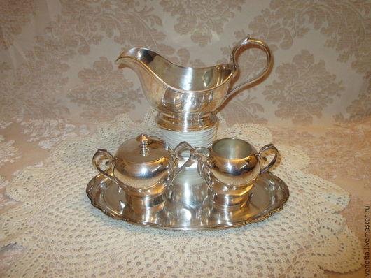 Винтажная посуда. Ярмарка Мастеров - ручная работа. Купить Старинный набор ,серебрение. Handmade. Серебряный, подарок женщине, старинный набор