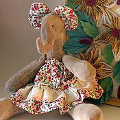 Tilda Toys handmade. Livemaster - original item Soft toy Tilda Elephant pink Dunyasha gift for girls. Handmade.