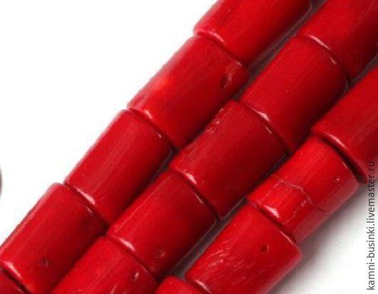 Коралл красный бусины цилиндры. Бусины коралла для колье, коралл бусины разделители для браслетов, коралл красный бусины для серег.