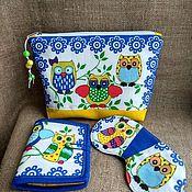 Сумки и аксессуары handmade. Livemaster - original item Cosmetic bag. Sleep mask. Bag. Gift set Sowosky.. Handmade.