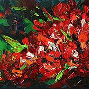 """Картины и панно ручной работы. Ярмарка Мастеров - ручная работа Картина маслом """"Цветочная гроздь"""". Handmade."""