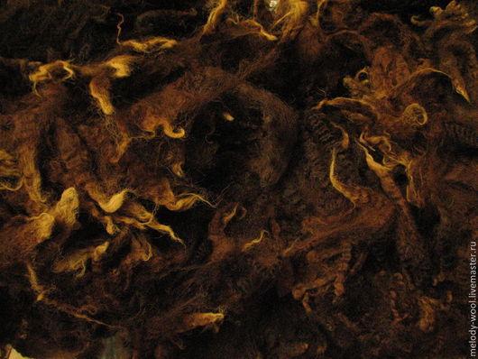 Валяние ручной работы. Ярмарка Мастеров - ручная работа. Купить Флис Перендейла тёмно-коричневый с бежевыми кончивами. Handmade. Коричневый