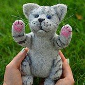 Felted Toy handmade. Livemaster - original item Felt Kitty. Handmade.