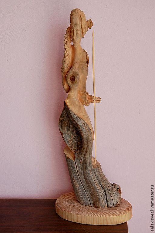 Статуэтки ручной работы. Ярмарка Мастеров - ручная работа. Купить Амазонка (статуэтка из дерева). Handmade. Амазонка, мифология, природный материал