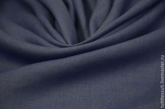 Шитье ручной работы. Ярмарка Мастеров - ручная работа. Купить Лен 02-003-2765. Handmade. Тёмно-синий