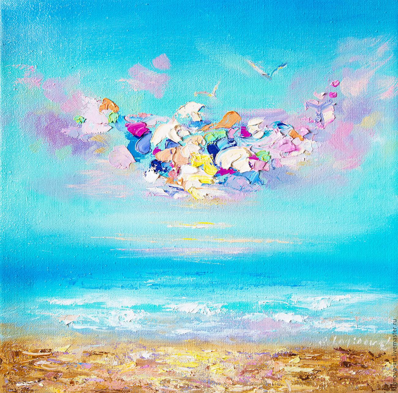 Море, абстракция-холст, масло, Картины, Находка,  Фото №1