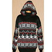 Одежда handmade. Livemaster - original item The reindeer sweater, hooded. Handmade.