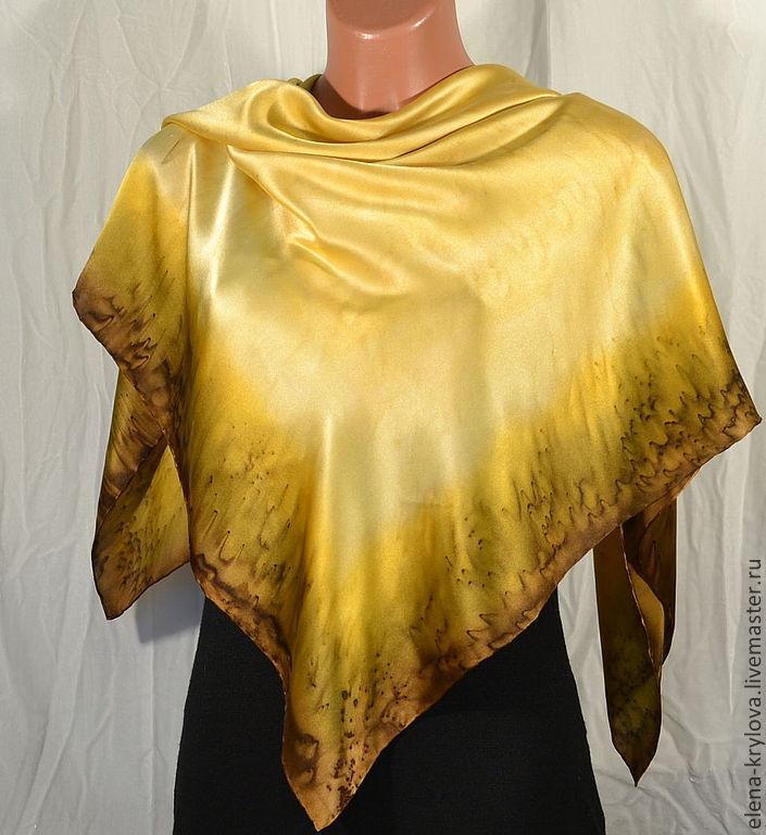 Silk scarf batik Cappuccino, Shawls1, Ryazan,  Фото №1