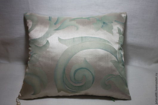 Текстиль, ковры ручной работы. Ярмарка Мастеров - ручная работа. Купить Шелковая наволочка. Handmade. Мятный, бледно-зеленый, изысканность