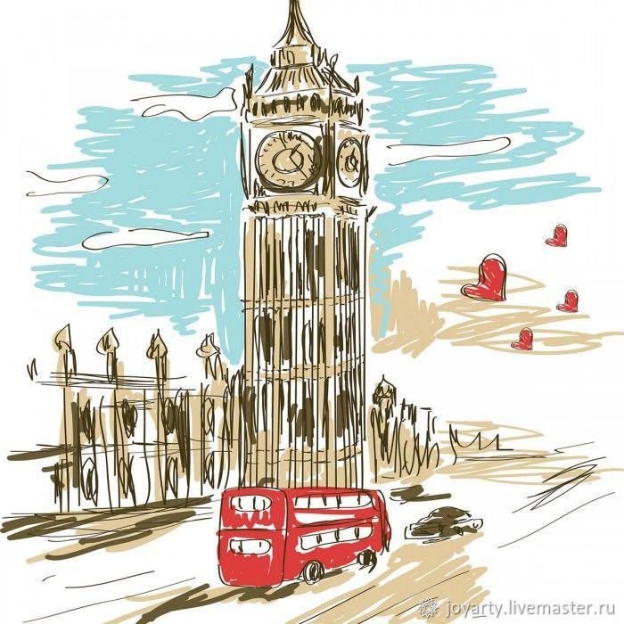 Чехол для гладильной доски «Автобус к Биг Бену» ib_4874