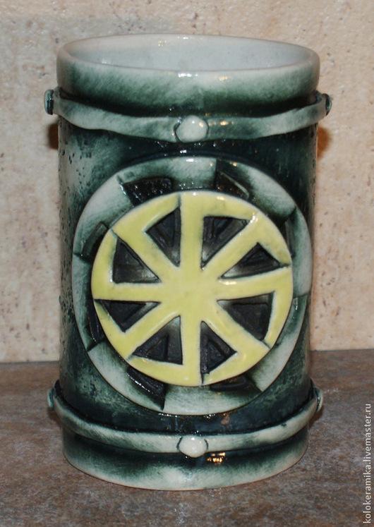 Посуда ручной работы. Ярмарка Мастеров - ручная работа. Купить кружки Коловрат, Солнцеворот. Handmade. Коловрат, подарок, глина