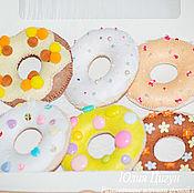 Doll food handmade. Livemaster - original item A set of donuts. Handmade.