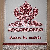 Свадебный салон ручной работы. Ярмарка Мастеров - ручная работа Свадебный рушник  ручная вышивка  красный Древо жизни. Handmade.
