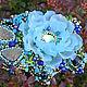 Крупная брошь цветок вышитая бисером с натуральными пиритами. Украшение ручной работы. Купить Ярмарка Мастеров. Ледяной цветок снежинка