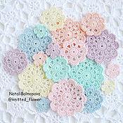 Материалы для творчества handmade. Livemaster - original item a set of knitted items and flowers