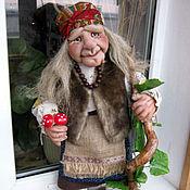 Куклы и игрушки ручной работы. Ярмарка Мастеров - ручная работа Баба Яга с мухоморами. Handmade.