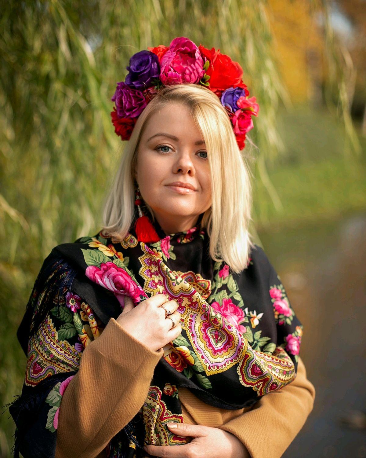 """Цветочный ободок """"Фрида"""", Ободки, Санкт-Петербург,  Фото №1"""