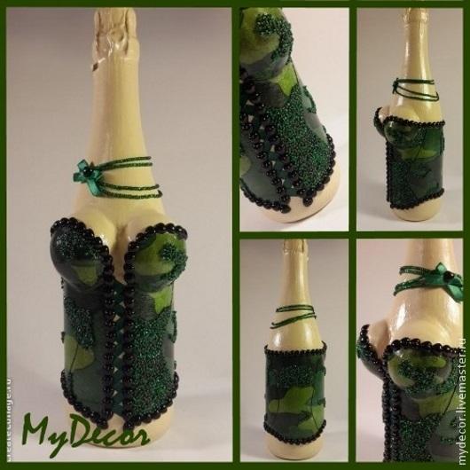 Как красиво украсить бутылку коньяка своими руками фото 540
