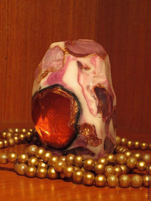 """Мыло ручной работы. Ярмарка Мастеров - ручная работа. Купить Мыло камень """"Огненное сердце"""", подарок учителю, подарки на 8 марта. Handmade."""
