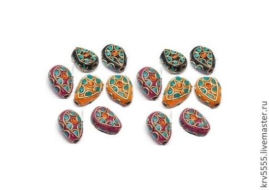 Для украшений ручной работы. Ярмарка Мастеров - ручная работа. Купить Бусины Индонезия, капля, 18 мм, 3 цвета. Handmade.