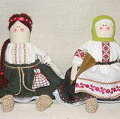 Куклы и игрушки ручной работы. Ярмарка Мастеров - ручная работа Домовушки  Васелина и Лукерья. Handmade.