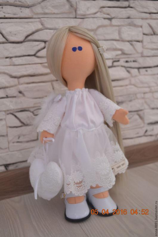 Куклы тыквоголовки ручной работы. Ярмарка Мастеров - ручная работа. Купить Текстильная кукла ручной работы. Handmade. Белый
