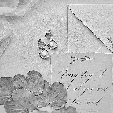 Свадебный салон. Ярмарка Мастеров - ручная работа Серьги с жемчугом. Handmade.