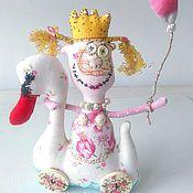 Куклы и игрушки ручной работы. Ярмарка Мастеров - ручная работа ПрЫнцесса-лебедь кукла игрушка текстильная. Handmade.