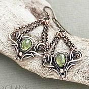 Украшения handmade. Livemaster - original item Copper earrings Viola. Handmade.