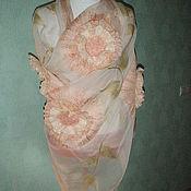 Аксессуары handmade. Livemaster - original item Stole made of silk blossom. Handmade.