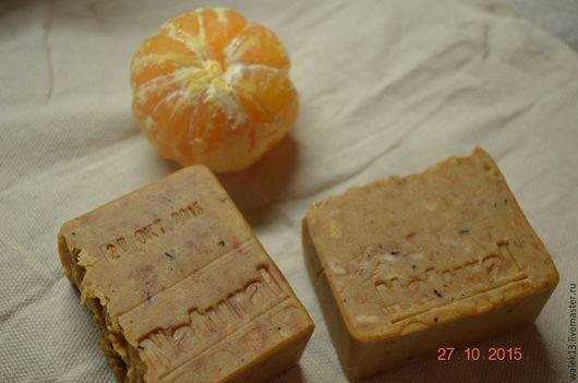 """Мыло ручной работы. Ярмарка Мастеров - ручная работа. Купить Натуральное мыло """"Апельсиновый, мандариновый..."""". Handmade. Оранжевый"""