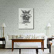 """Картины ручной работы. Ярмарка Мастеров - ручная работа Постер """"ФРАЙ"""". Handmade."""