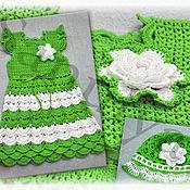 """Работы для детей, ручной работы. Ярмарка Мастеров - ручная работа Платье """"зеленое яблоко"""". Handmade."""