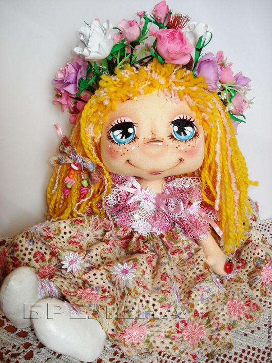 Сказочные персонажи ручной работы. Ярмарка Мастеров - ручная работа. Купить Текстильная кукла Алёнка.Девочка Весна.. Handmade.