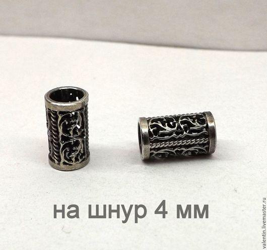 Для украшений ручной работы. Ярмарка Мастеров - ручная работа. Купить Трубочка серебро 925 на шнур 4 мм. Handmade.