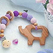 Куклы и игрушки handmade. Livemaster - original item The clip-on teether, teething toy-teether