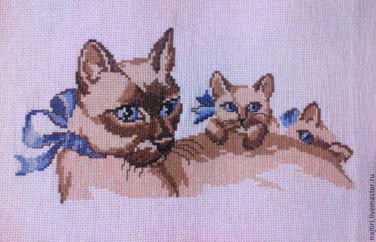 Животные ручной работы. Ярмарка Мастеров - ручная работа. Купить Сиамская кошка с котятами. Handmade. Сиамская кошка, котенок, подарок
