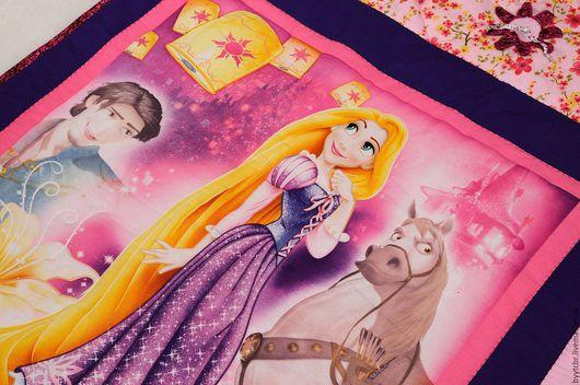 Пледы и одеяла ручной работы. Ярмарка Мастеров - ручная работа. Купить РАПУНЦЕЛЬ Детское лоскутное покрывало. Детское одеяло для девочки. Handmade.