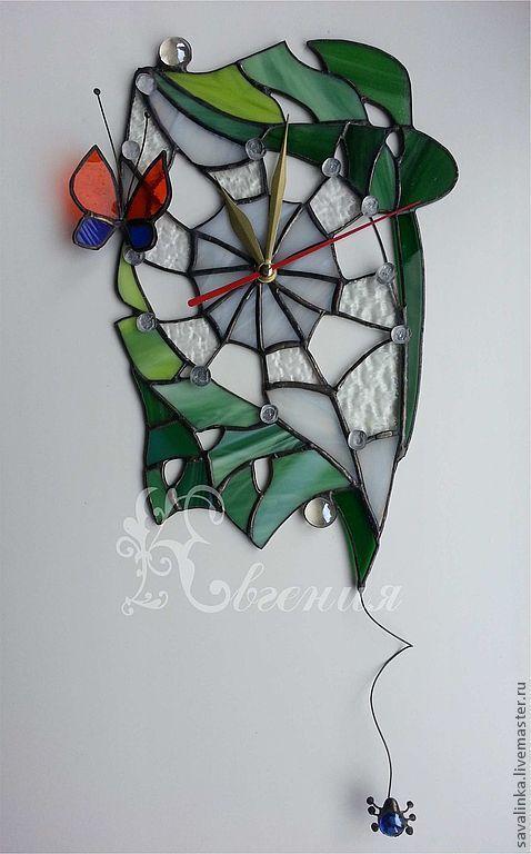 """Часы для дома ручной работы. Ярмарка Мастеров - ручная работа. Купить Часы """" Домик паучка"""". Handmade."""