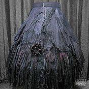 "Одежда manualidades. Livemaster - hecho a mano Wraparound skirt  boho style,Gothic style ""The Persian Night"". Handmade."