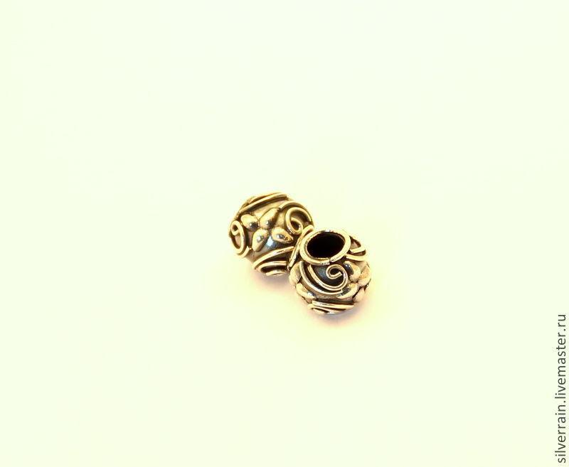 Бусина круглая серебро 925 Бали, стиль Пандора, Для украшений, Екатеринбург, Фото №1