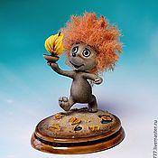 """Куклы и игрушки ручной работы. Ярмарка Мастеров - ручная работа Ёжик из м/ф """"Осенние корабли"""". Handmade."""