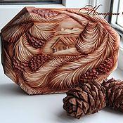 """Для дома и интерьера ручной работы. Ярмарка Мастеров - ручная работа Шкатулка из дерева """" Дары кедра"""". Резьба по дереву.. Handmade."""