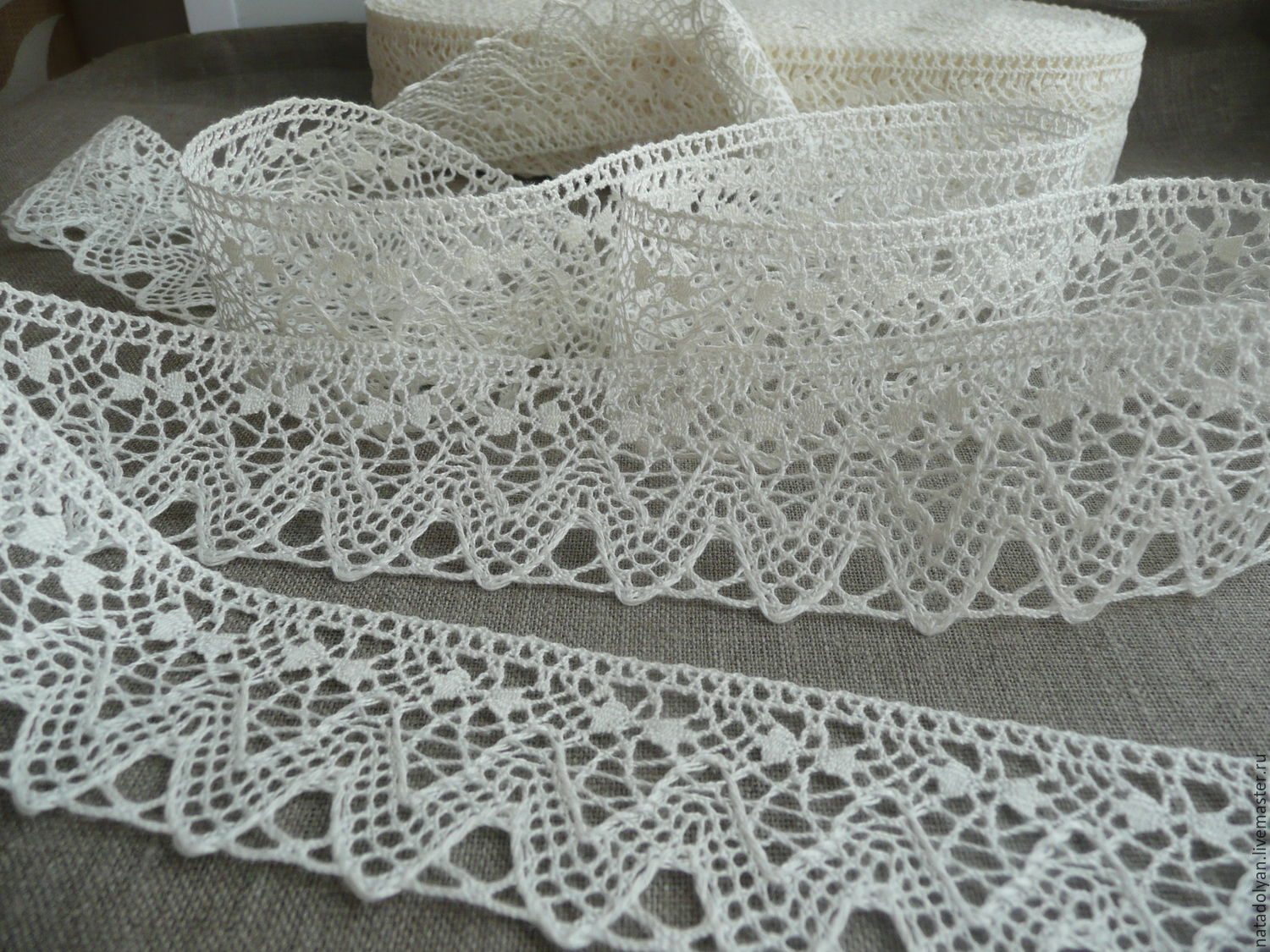 Industrial Style Len lace linen fishnet 5 molochnoe shop on livemaster with