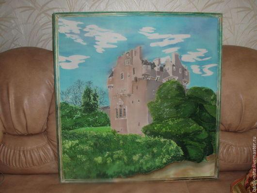 Пейзаж ручной работы. Ярмарка Мастеров - ручная работа. Купить Замок в Шотландии. Handmade. Батик, батик картины, замки шотландии