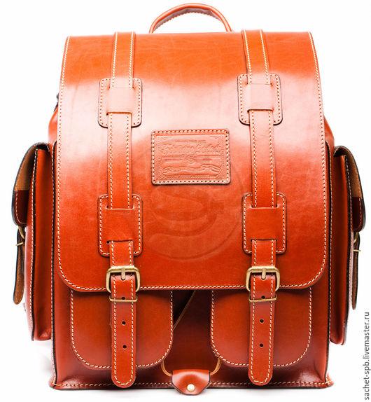 """Рюкзаки ручной работы. Ярмарка Мастеров - ручная работа. Купить Кожаный рюкзак """"Пехотинец"""" рыжий. Handmade. Рыжий, рюкзак для города"""