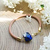 Украшения handmade. Livemaster - original item Bracelet with lapis leather. Handmade.